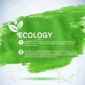 Green painted background. Vector illustration for fresh natural design. Ecology backdrop. — Stock Vector