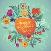 Greeting Card Happy Mother's Day — Stock Vector