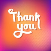 Thank You Calligraphy — Stock Vector