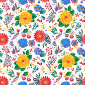 Flowers seamless pattern — Vetor de Stock