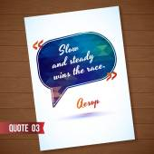 Wisdom quote card on wood background — Stock Vector