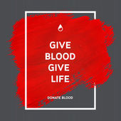 Donate blood motivation information poster. — Stock Vector