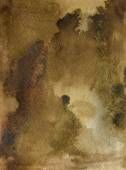 Watercolor Coffee Color Water Paper Background. Abstract brown raster illustration. — Stock Photo