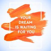 Motivation dream   poster. — Stock Vector