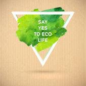 Watercolor  green ecology banner — Stock Vector