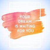 Motivation dream  poster — Stock Vector