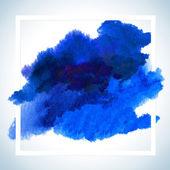 Vernice macchia carta Raster Design. Colpo dell'acquerello poster modello Uft testo lettering o dicendo inspirational. — Foto Stock