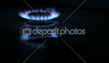 Quemador de gas de cocina — Vídeo de stock