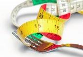 Fork with centimeter — Stock fotografie