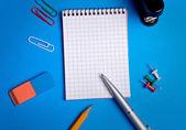 Office utensil on background — Stock Photo