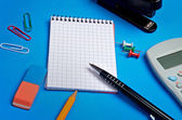 Notebook and office supplies — Foto Stock