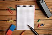 Assorted office supplies — Stock Photo