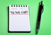 To do list word — Stock Photo