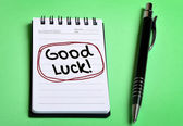Good Luck word — Stock Photo
