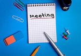 Meeting word — Stock Photo