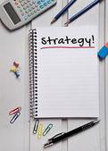 Strategie woord — Stockfoto