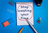 Stop wasting your time word — Stock Photo