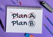 План Plan B слово — Стоковое фото