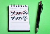Planera en Plan B ordet — Stockfoto