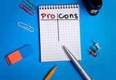 Pro Cons word — Stockfoto