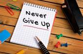 Never give up word — Stock Photo