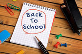 Back to school word — Foto Stock