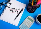 Financial plan word — Stock Photo