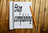 Stop complaining word — Stock Photo