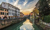 Padova cityscape on sunset — Stock Photo