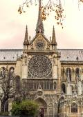 Paris. Notre Dame cathedral. Vintage effect — Stock Photo