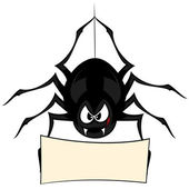 Funny freaky spider — Stock Vector
