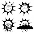 Winter sun mascots — Stock Vector #57552479