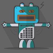Robot karakter — Stockvector
