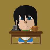 Boy Character — Stock Vector
