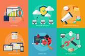 & Webbutveckling — Stockvektor