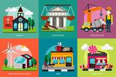 Construção civil & — Vetor de Stock