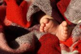 Baby Feet under blanket — Photo
