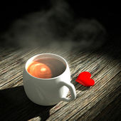 3d Heart and coffee. — Foto de Stock