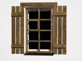 Fenêtre en bois — Photo