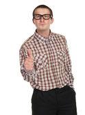 Nerd in glasses  — Stock Photo