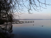 Bad Zwischenahn, evening view of the lake. — Stok fotoğraf