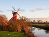 Greetsiel, traditional Windmill  — Foto Stock