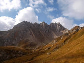 Mountain walking. Passo Colombe e Passo del Sole. — Foto de Stock