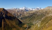 Swiss Alps, View of Grimsel pass — Stock Photo