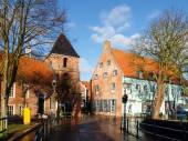 Greetsiel, typical houses of the Village — Stock Photo