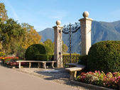 Lugano, Switzerland. Picture from the botanical park — Foto de Stock