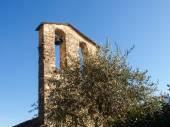 Sala Comacina, Comomeer. De kleine golf met de haven en — Stockfoto