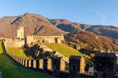 Bellinzona, walled of Castelgrande — Foto Stock