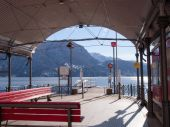 Visor docking for lake navigation — Stock Photo