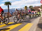 Cycling race Grand Prix of Lugano in 2015 — Stock Photo